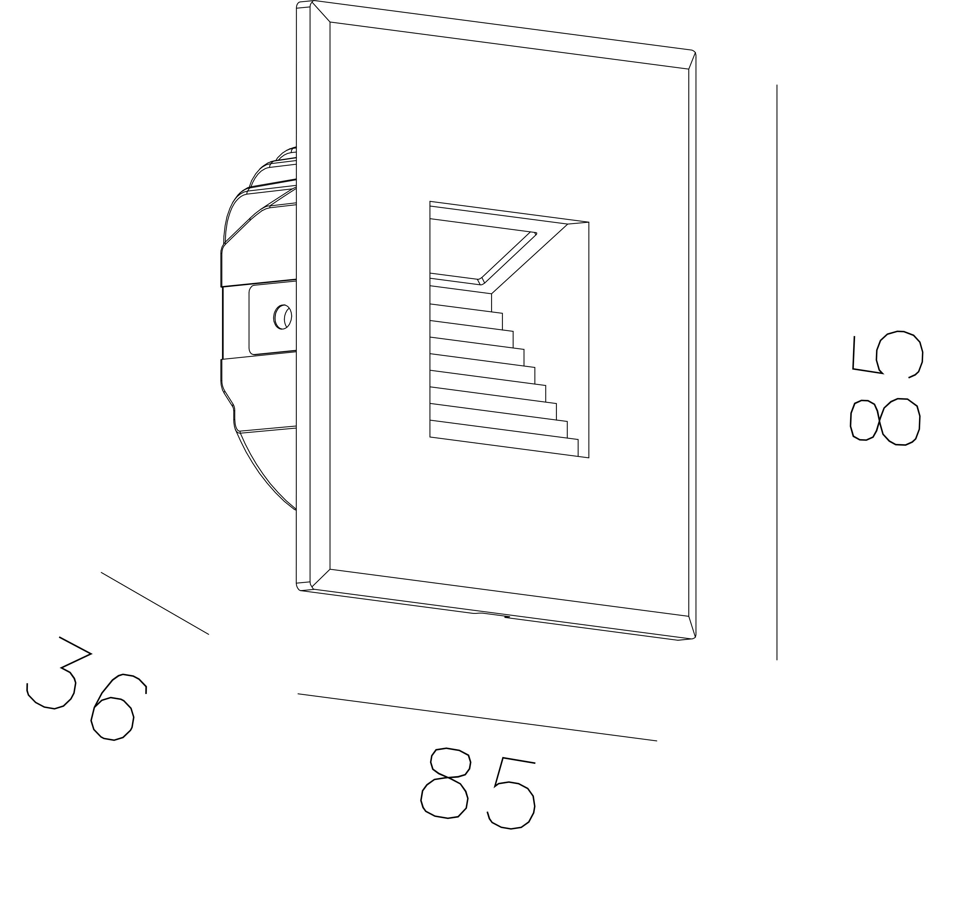 STP 85 Innfelt vegglampe LED (udriver) fra NorDesign